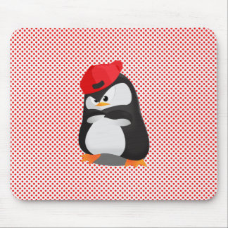 Hip Hop Angry Penguin Mouse Pad