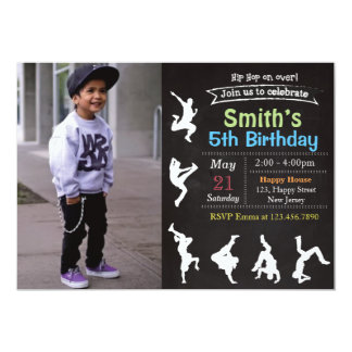 Hip Hop Birthday Invitation