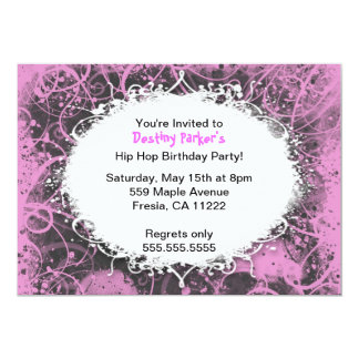 Hip Hop Birthday Party Invitation