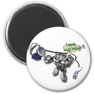 hip hop bot 6 cm round magnet