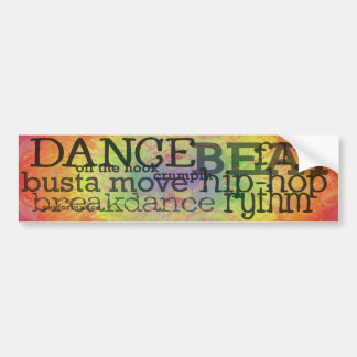 HIP HOP Break Dancer Bumper Sticker