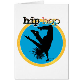 HIP HOP Break Dancer Card