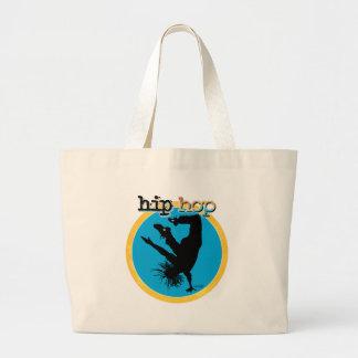 HIP HOP Break Dancer Large Tote Bag