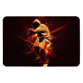 hip-hop breakdancer rectangular photo magnet