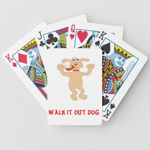 Hip Hop Cartoon Dancing Dog Bicycle Playing Cards