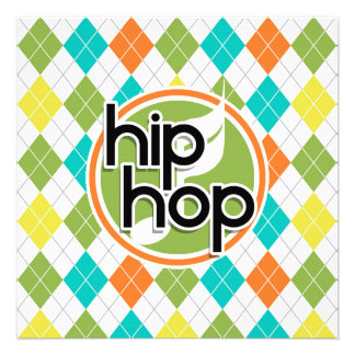 Hip Hop Colorful Argyle Pattern Announcements