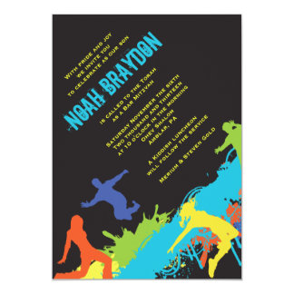 HIP HOP DANCE Bat Bar Mitzvah Invitation