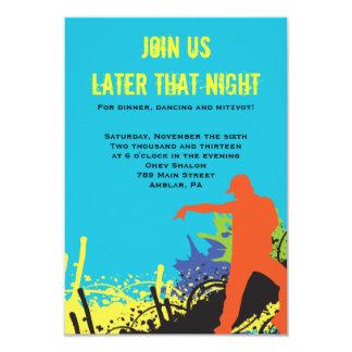 HIP HOP DANCE Bat Bar Mitzvah Party Card