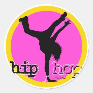 HIP HOP Dance moves Round Sticker