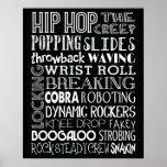 Hip Hop Dance Subway Art Poster