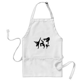 hip hop dancer adult apron