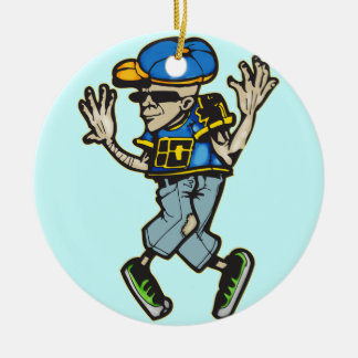 Hip Hop Dancer Christmas Ornament