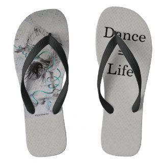 Hip-Hop Dancer Women's Flip Flops