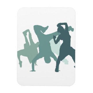 Hip Hop Dancers Illustration Rectangular Photo Magnet