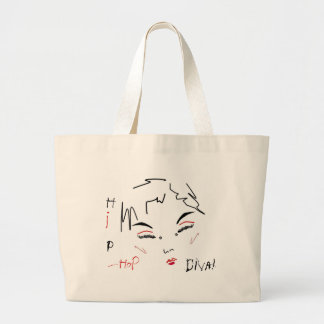 Hip-Hop Diva Jumbo Tote Bag