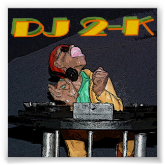 Hip Hop DJ 2-K Poster