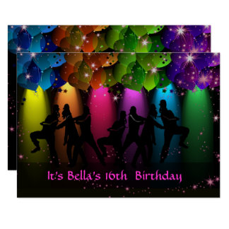 Hip Hop Girl Birthday Custom Invitation