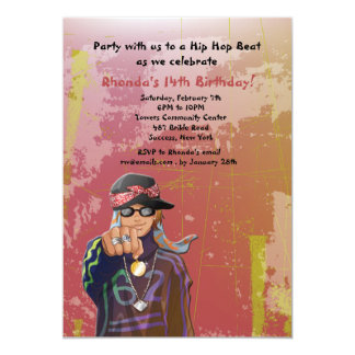 Hip Hop Girl Birthday Party Invitation