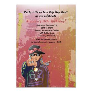 Hip Hop Girl Birthday Party Invitation
