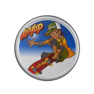 Hip Hop girl skateboard Cartoon Speaker