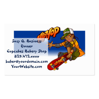 Hip Hop girl skateboard Cartoon Double-Sided Standard Business Cards (Pack Of 100)