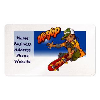 Hip Hop girl skateboard Cartoon Pack Of Standard Business Cards