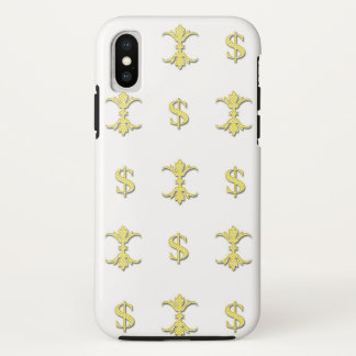 Hip Hop Gold Dollar Bling Royal iPhone X Case