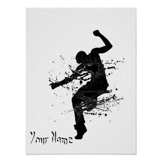Hip Hop Graffiti Dancer Personalised Poster