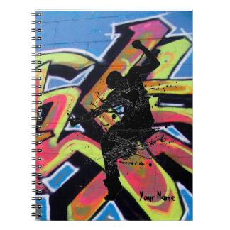 Hip Hop Graffiti Dancer Personalized Spiral Notebook