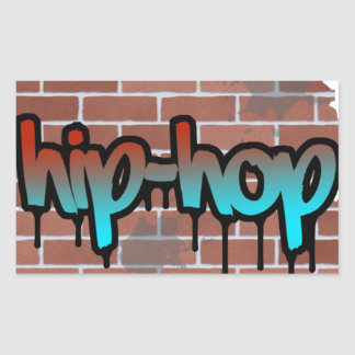 hip hop graffiti  design rectangular sticker