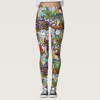 Hip Hop Graffiti Pattern Leggings
