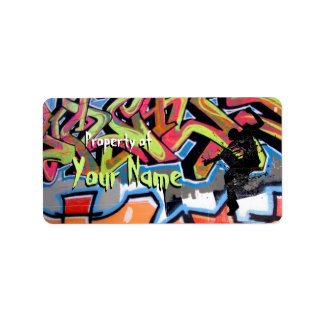 Hip Hop Graffiti Personalized Property Of Label