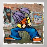 Hip Hop graffiti poster