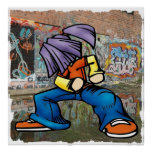 Hip Hop graffiti poster