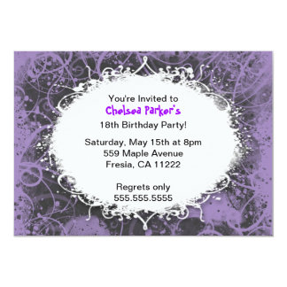 Hip Hop Grunge Birthday Party Invitation