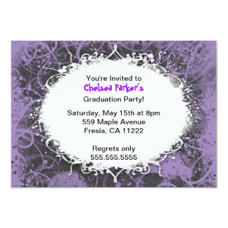 Hip Hop Grunge Graduation Party Invitation