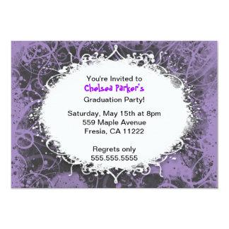 Hip Hop Grunge Graduation Party Invitation