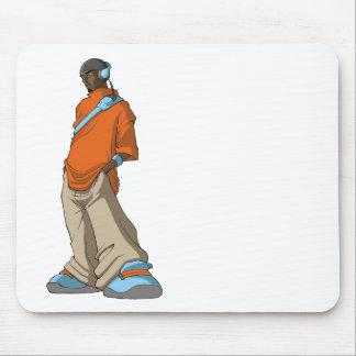 Hip Hop Headphone Man Mouse Mat