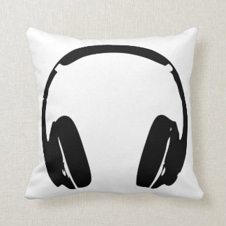 Hip Hop Headphones Decor Cushion