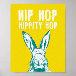 Hip Hop Hippity Hop Rabbit | Poster Art Print 8x10