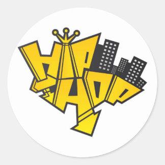 Hip-hop logo round sticker