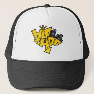 Hip-hop logo trucker hat