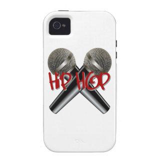 Hip Hop - mc rap dj rap turntable mic graffiti r b Case-Mate iPhone 4 Cases