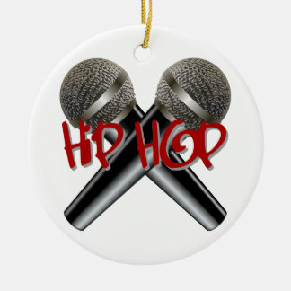 Hip Hop - mc rap dj rap turntable mic graffiti r&b Christmas Ornament