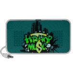 hip hop music doodle speakers
