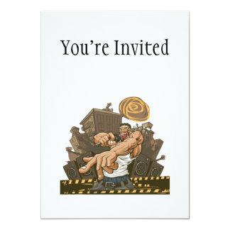 Hip Hop Party Don't Stop 5x7 Paper Invitation Card