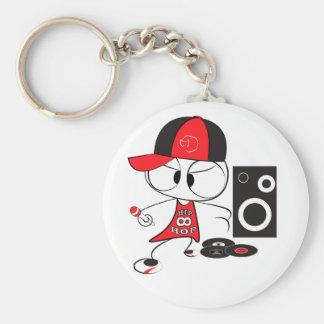 Hip hop rapper doll key ring