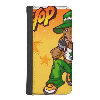 hip hop rapper girl green orange cartoon