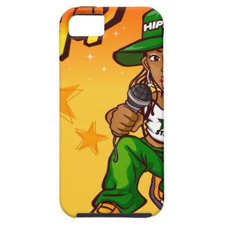 hip hop rapper girl green orange cartoon iPhone 5 covers