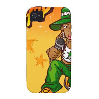 hip hop rapper girl green orange cartoon iPhone 4 covers